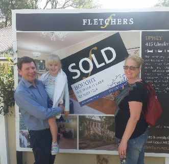 Happy first home buyers