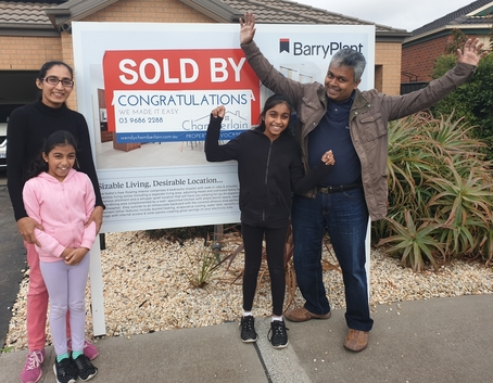 Gayan and Manoji - happy Chamberlain Property Advocates clients
