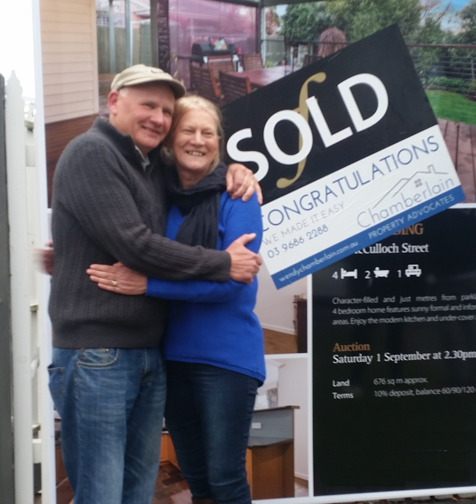 Happy Chamberlain Property Advocate Clients worked with Wendy Chamberlain to sell their family home