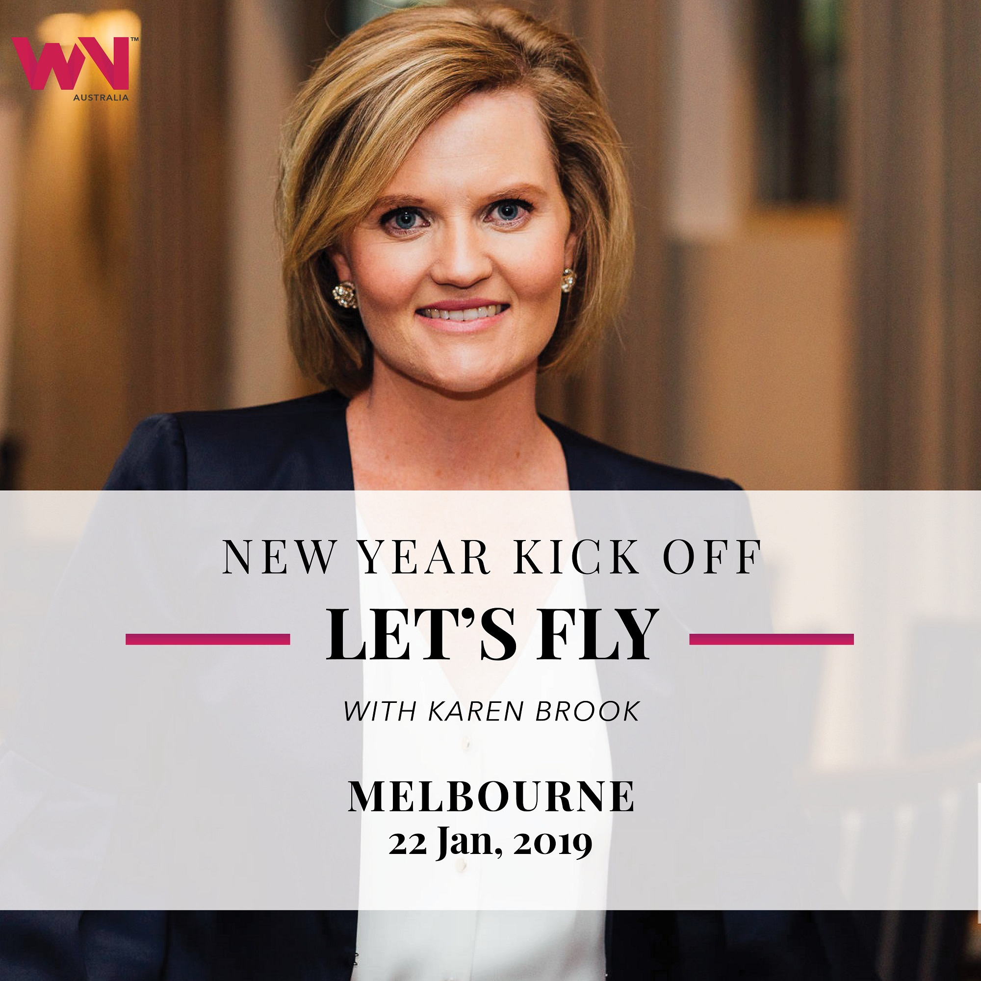 Karen Brooks speaks at Women's Network Australia in Melbourne January 2019