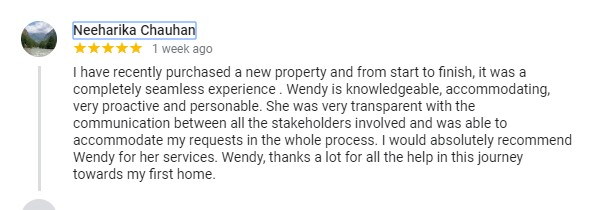 Neeharika - happy Chamberlain Property Advocates client