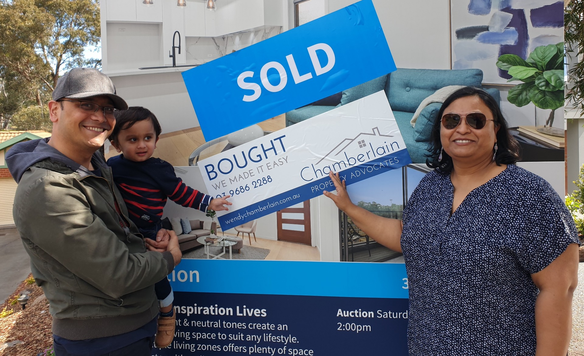 Subir and Susmita - happy Chamberlain Property Advocates clients