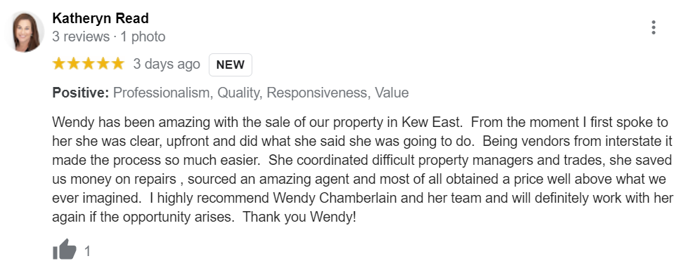 Kate Read Google Review